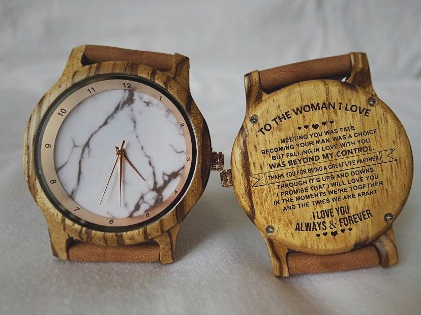 To The Woman I Love - Wooden Watch
