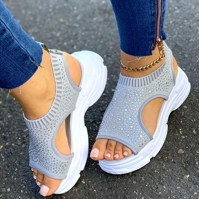 AGATHA CRYSTAL SANDALS