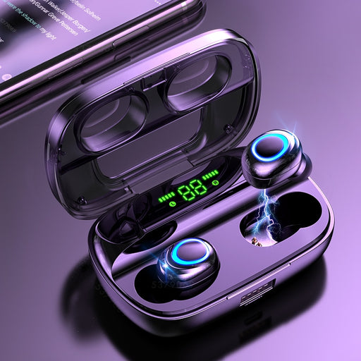 Bluetooth Wireless Earbuds with Microphone - Gadget Go 123