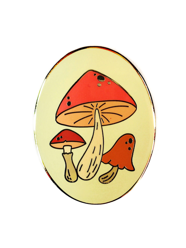 Large Toadstool Pin