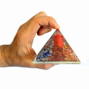 Lrg Orgonite Pyramid 70mm - Ganesh