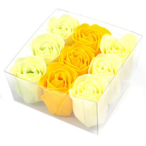 Set of 9 Soap Flowers- Spring Roses