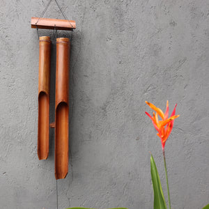 Bamboo Windchime - Natural finish - 4 Big Tubes