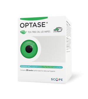 Scope Optase Tea Tree Oil Lid Wipes