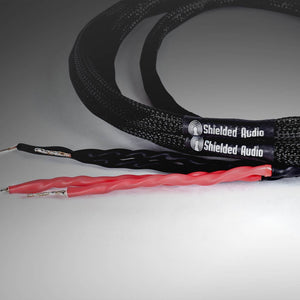 Shielded Audio designs and produces high performing speaker cables with braided copper shielding composed of industry-leading materials. These cables are critical components to producing a reliable, high-quality sound, and blocking RF/EMI interference.
