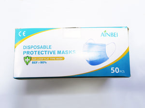 Ainbie 3-ply Disposable Face Mask(50pcs)40% OFF + BUY 1 GET 1