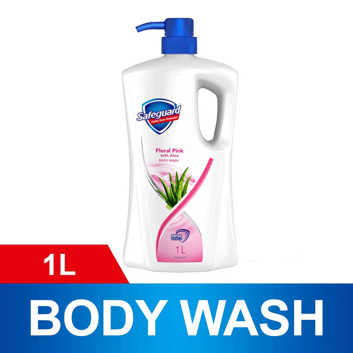 Safeguard Floral Pink with Aloe Body Wash (1L)
