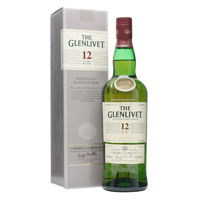 The Glenlivet 12 Single Malt Scotch Whisky 700ml
