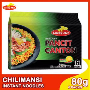 Lucky Me! Instant Pancit Canton Chilimansi 80g (Pack of 6)