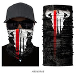 3D Skull Balaclava Neck Face Cover - Multi functional
