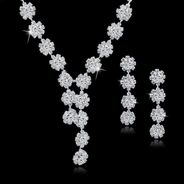 Crystal Bridal Necklace Sets