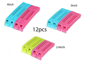 107 Multipurpose Food Snack Plastic Bag Clip Sealer (Multicolor) -12pc