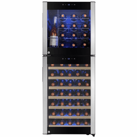 Dual Zone Freestanding Compressor Wine Cooler