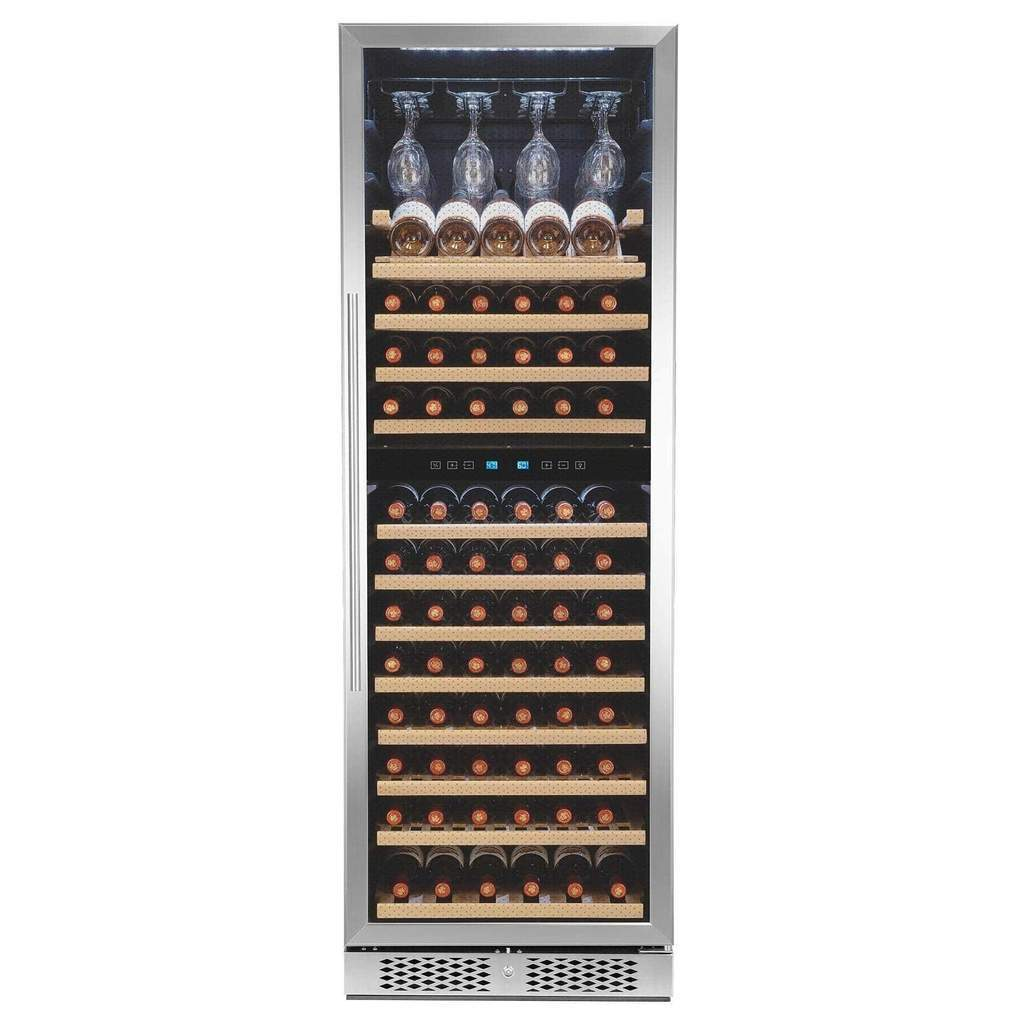 Touch Panel Dual Zone Freestanding Wine Cooler