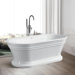 White Flatbottom Freestanding Bathtub