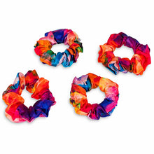 Load image into Gallery viewer, 4 tie dye scrunchies