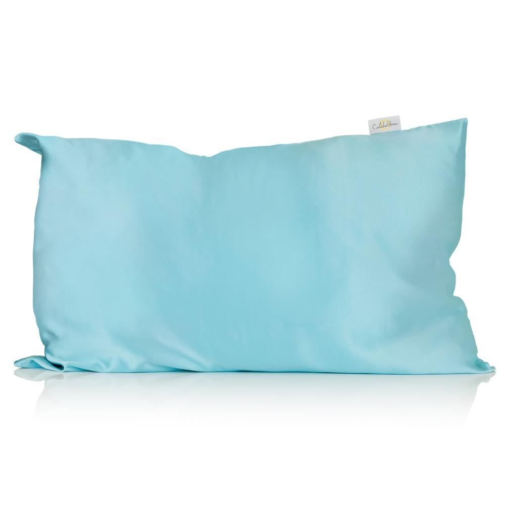 Aqua Silk Pillowcase - Silk Pillowcases - Silk Eye Masks - Silk Scrunchies - Luxury Towels