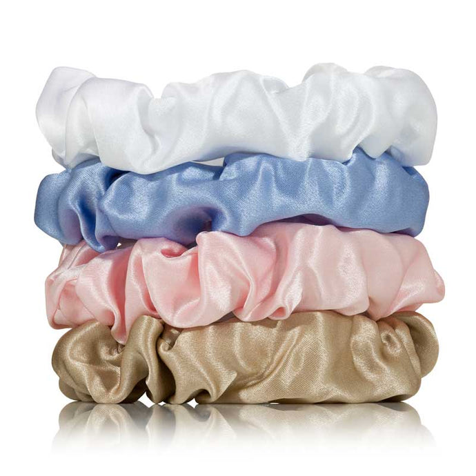 regular coloured silk scrunchies