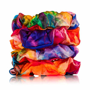 regular tie dye silk scrunchies