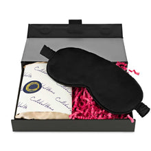 Load image into Gallery viewer, Silk Pillowcase & Eye Mask - Silk Pillowcases - Silk Eye Masks - Silk Scrunchies - Luxury Towels