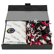 Load image into Gallery viewer, Silk Pillowcase & Scrunchies - Silk Pillowcases - Silk Eye Masks - Silk Scrunchies - Luxury Towels