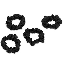 Load image into Gallery viewer, Silk Scrunchies 4 Black Regular - Calidad Home