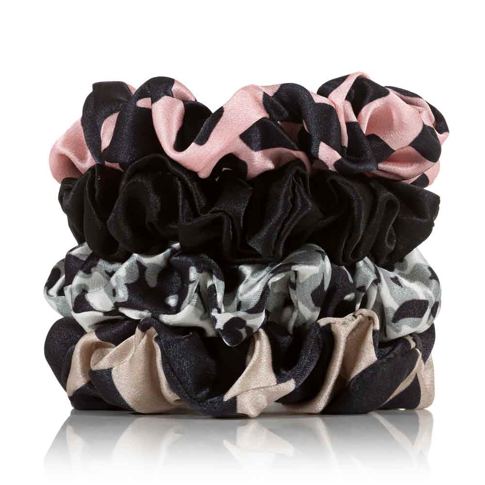 Silk Scrunchies 4 Regular Safari - Calidad Home