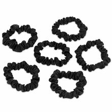 Load image into Gallery viewer, Silk Scrunchies Black (6 Skinny) - Calidad Home