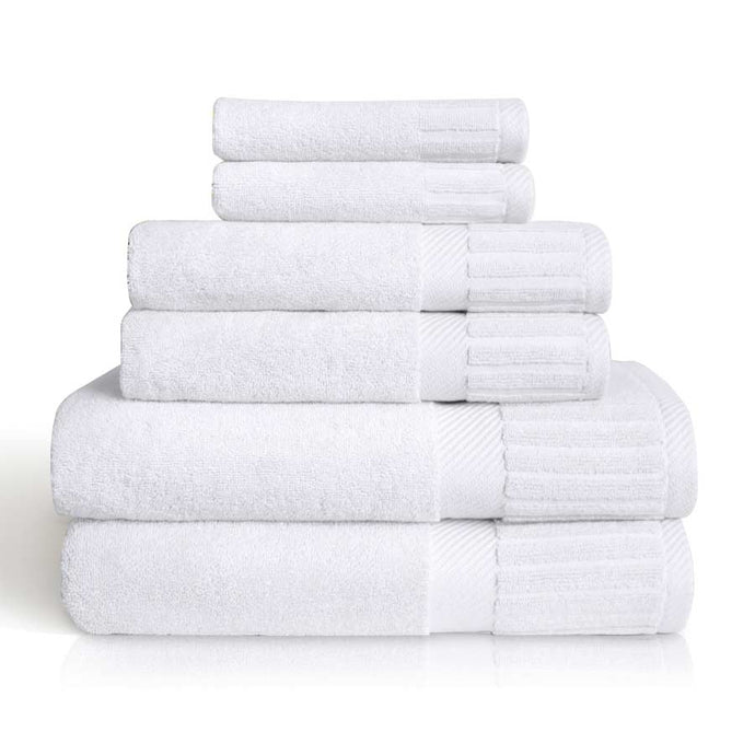 White Turkish Cotton Towel Bale - Calidad Home