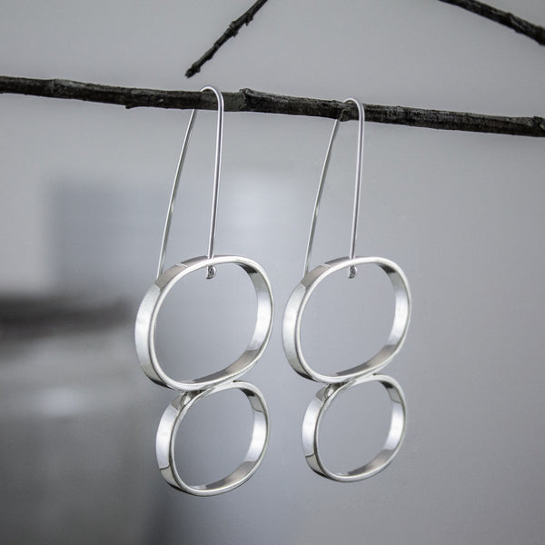 Double-Oval Earrings
