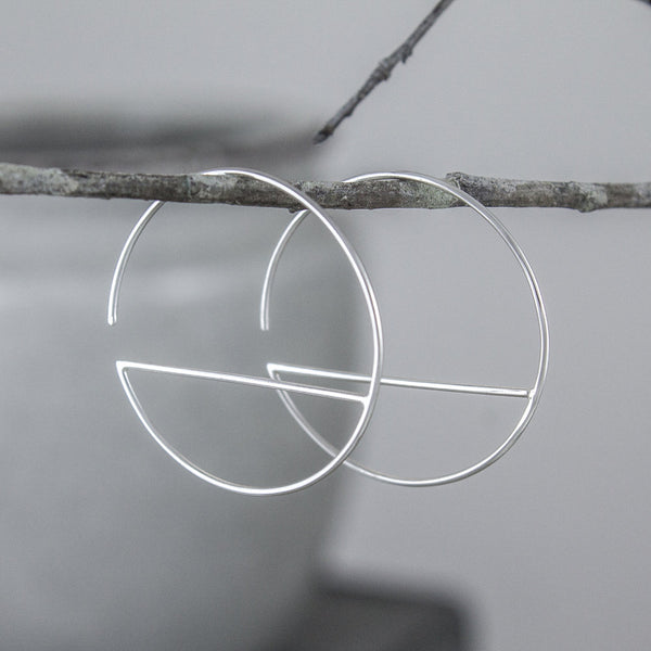 Divided Circle Earrings