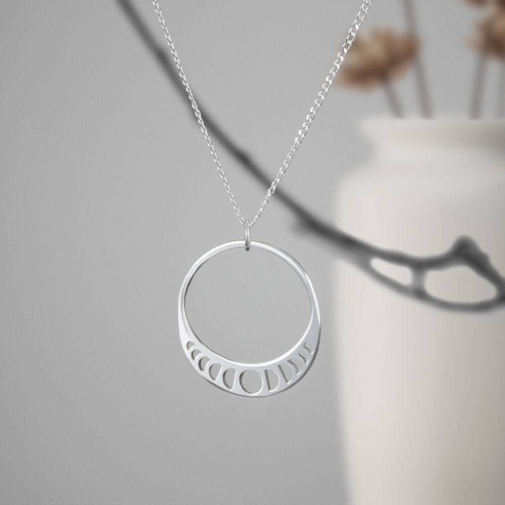 Sterling Moon Phase Necklace