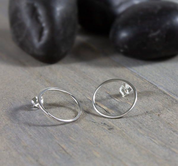Circle Post Earrings