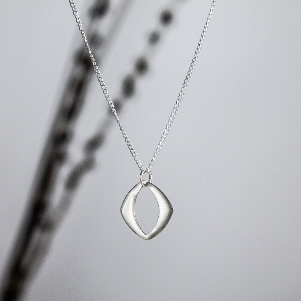 Flat Sterling Cut-Out Pendant