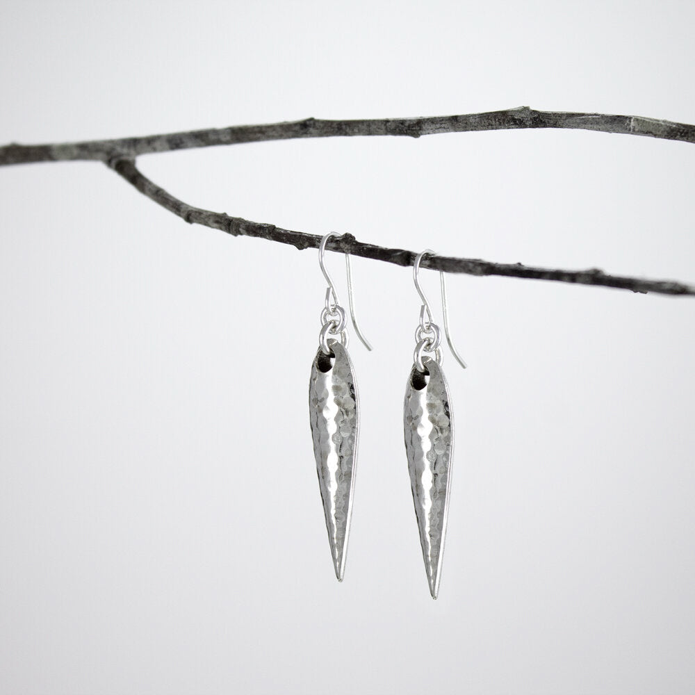 Hollow Hammered Spike Earrings