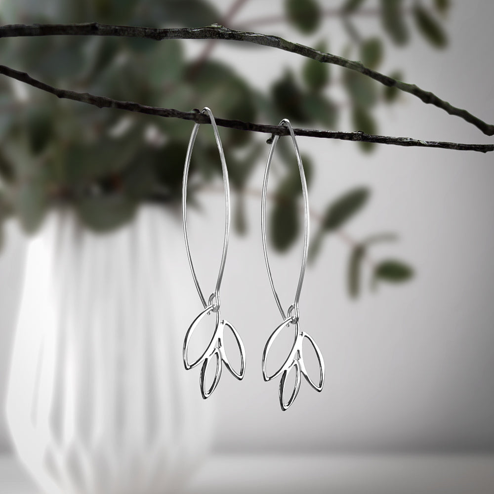 Leaf Marquis Earrings