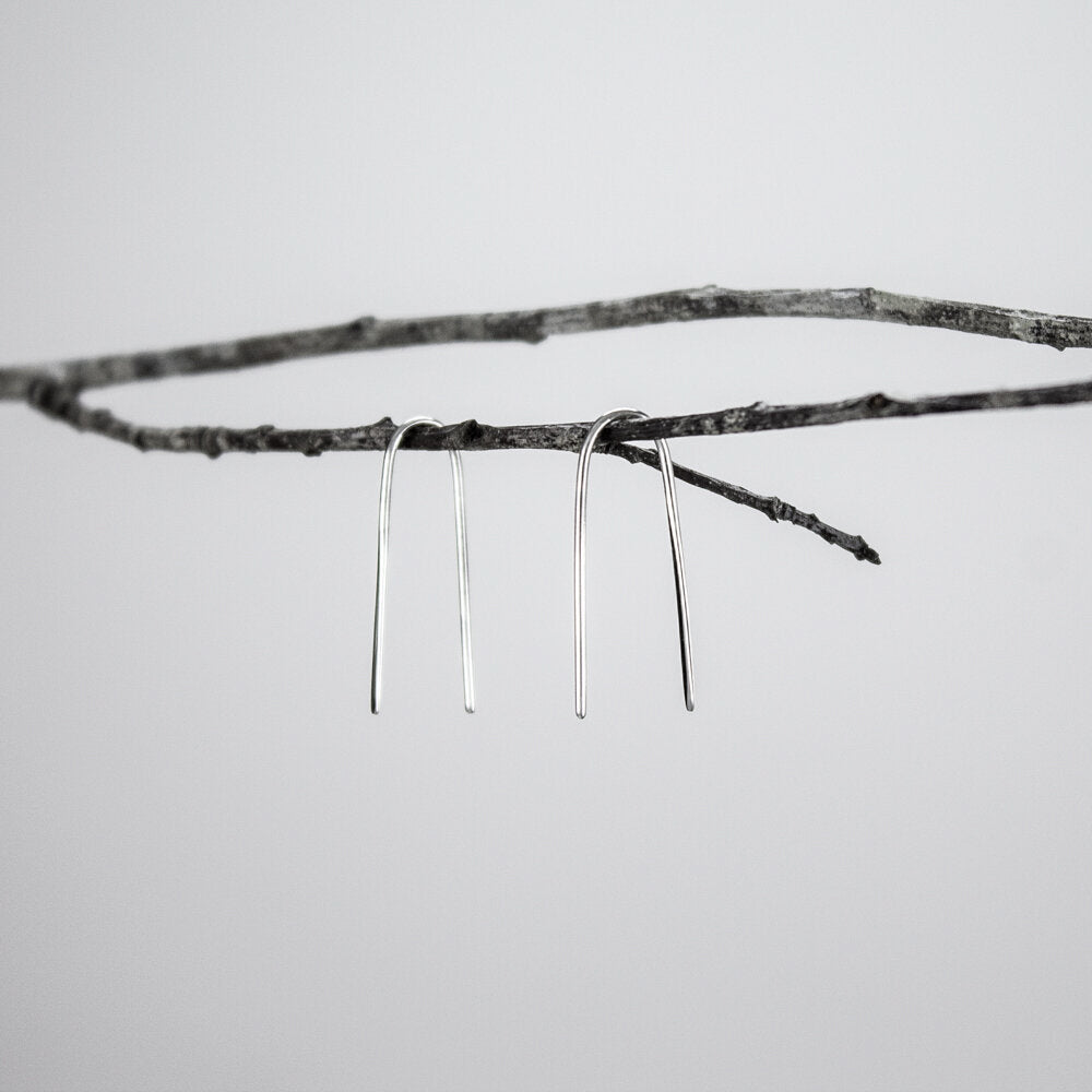 Minimalist Front-Hammered Earrings