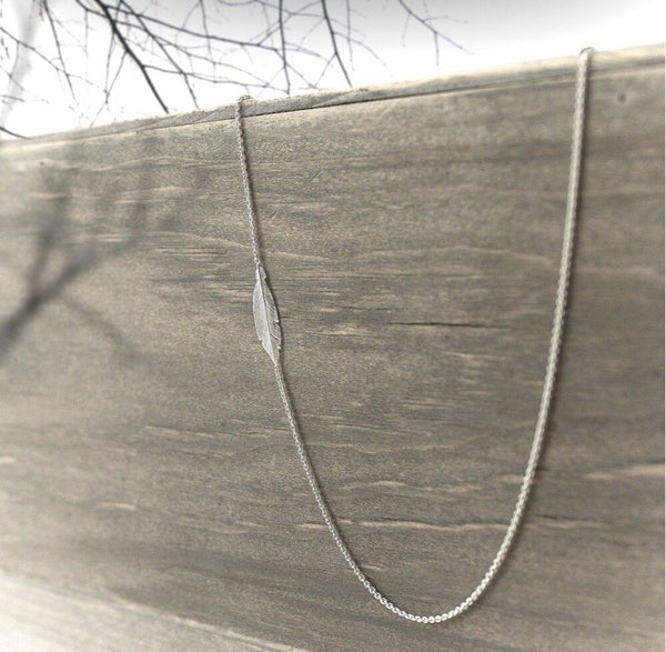 Asymmetrical Feather Necklace