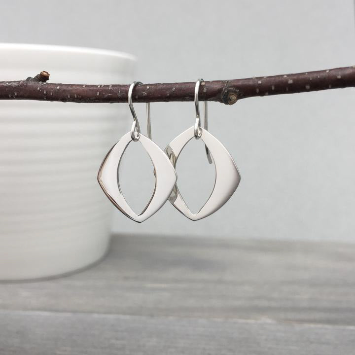 Sterling Cutout Earrings