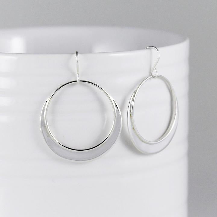 Rimmed Sterling Earrings