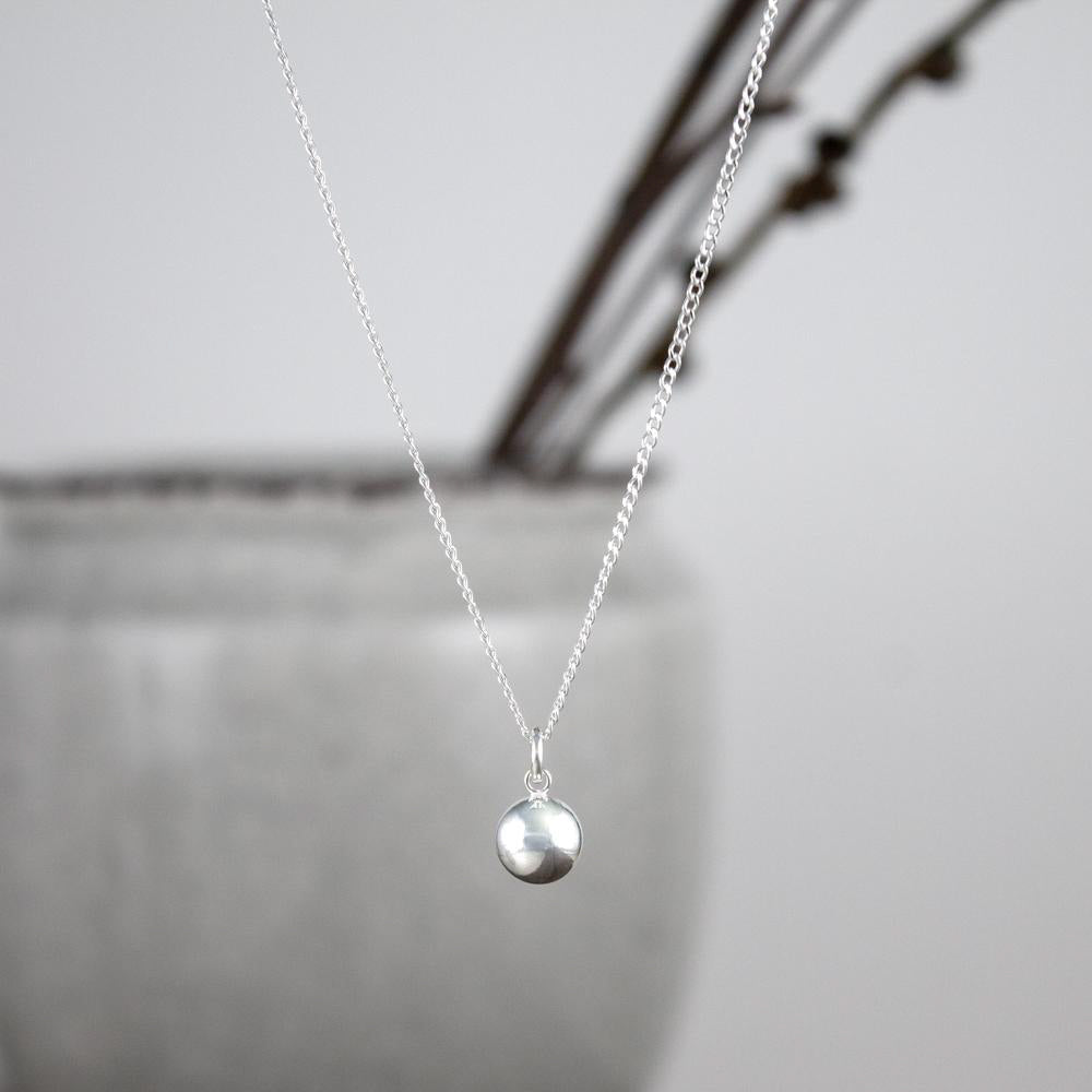 Sterling Ball Necklace