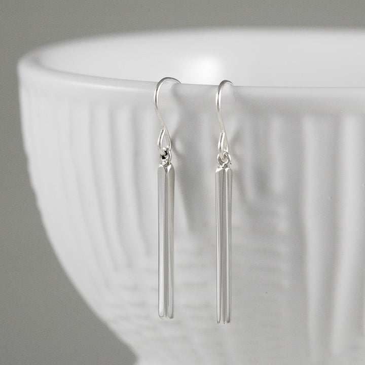 Sterling Stick Earrings