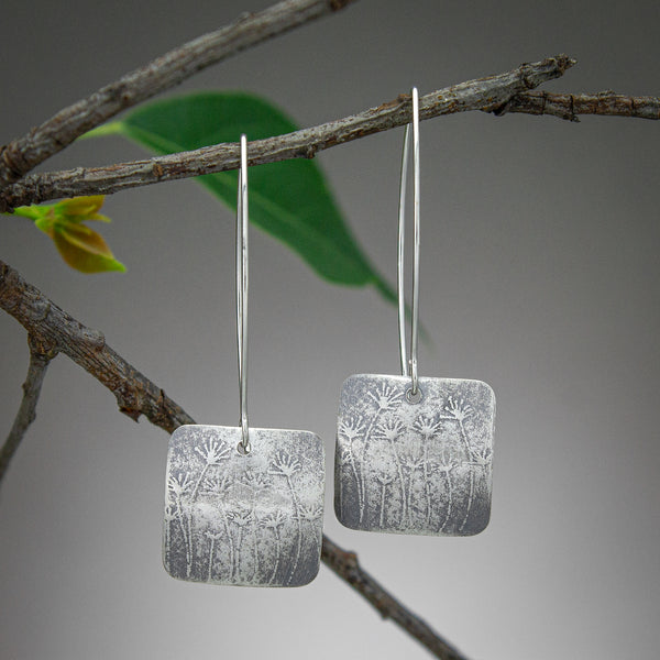 Delilah Textured Square Earrings