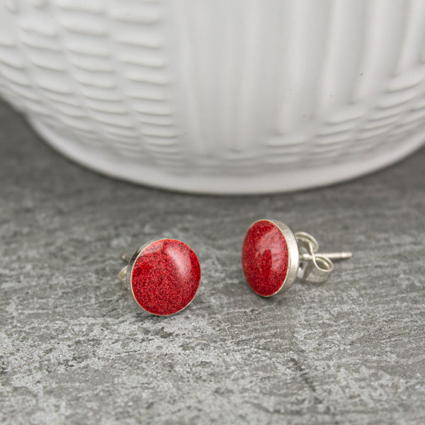 Red Pop Post Earrings