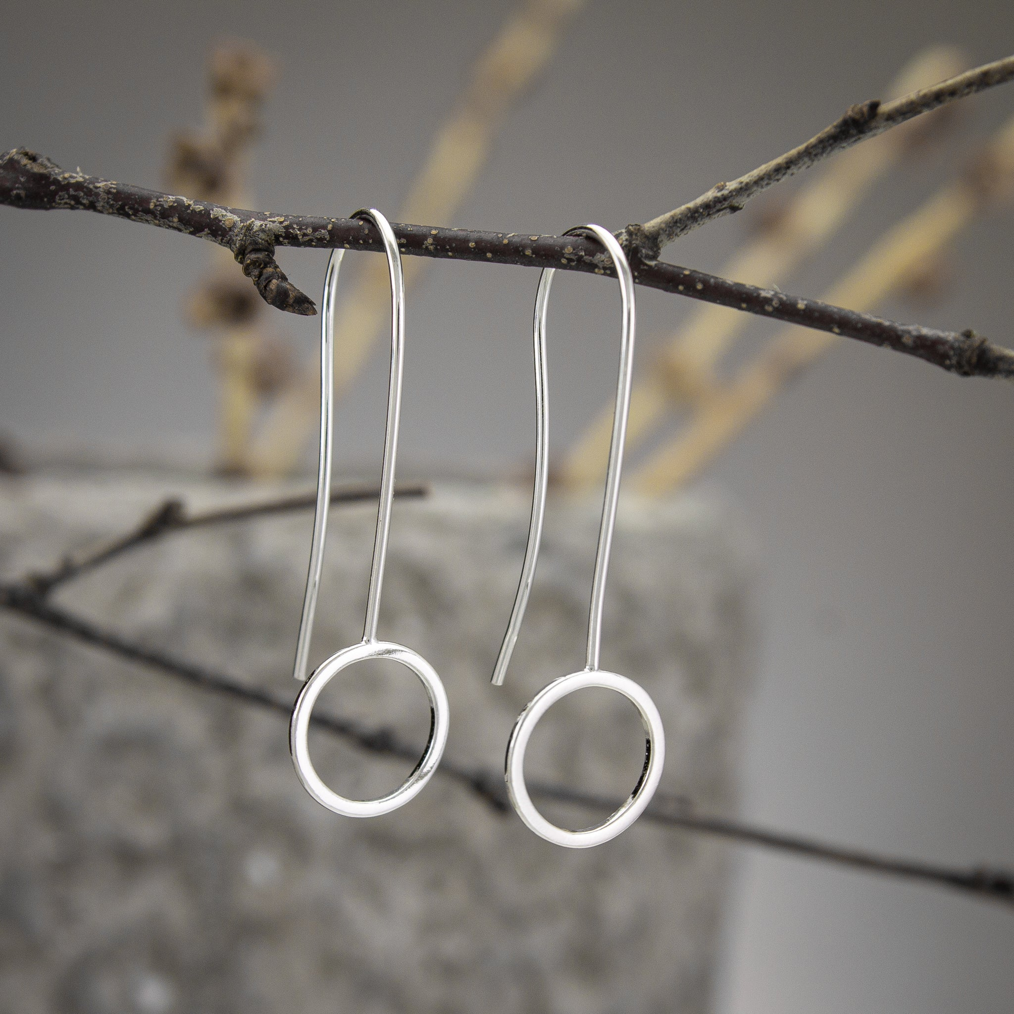 Curved-Back Circle Earrings
