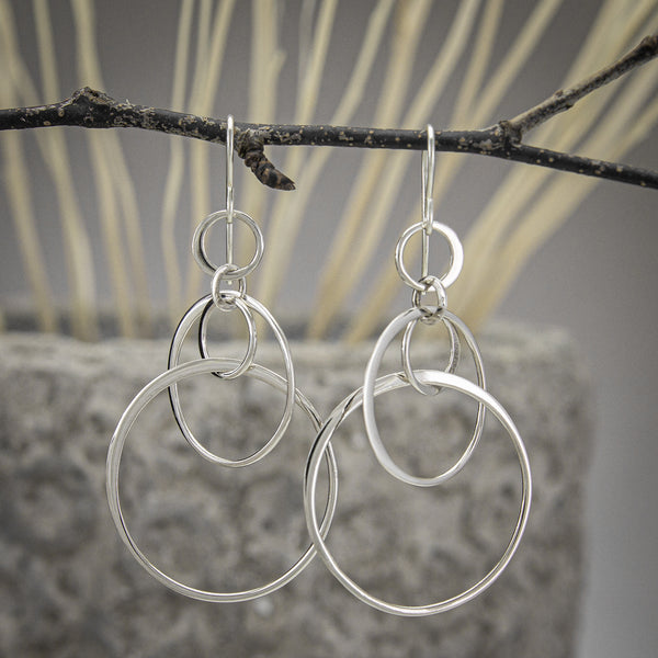 Five-Circle Earrings