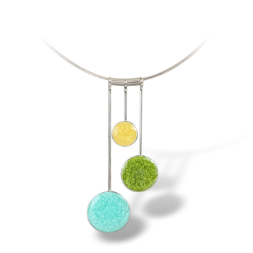 Powder, Lime, and Butter Resin Necklace