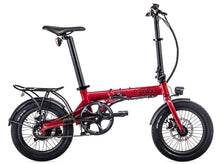 "Load image into Gallery viewer, Eovolt City 16"" Folding Electric Bike - Red"