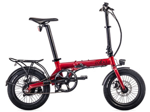 "Eovolt City One 16"" Folding Electric Bike - Red"