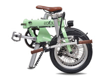 "Load image into Gallery viewer, Eovolt City One Retro 16"" Folding Electric Bike - Mint Green"
